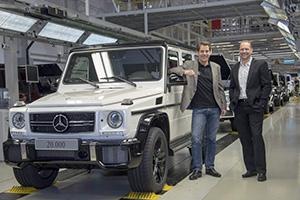 Produktionsrekord einer Offroad-Ikone: Erstmals 20.000 Mercedes-Benz G-Klassen in einem Jahr produziert
